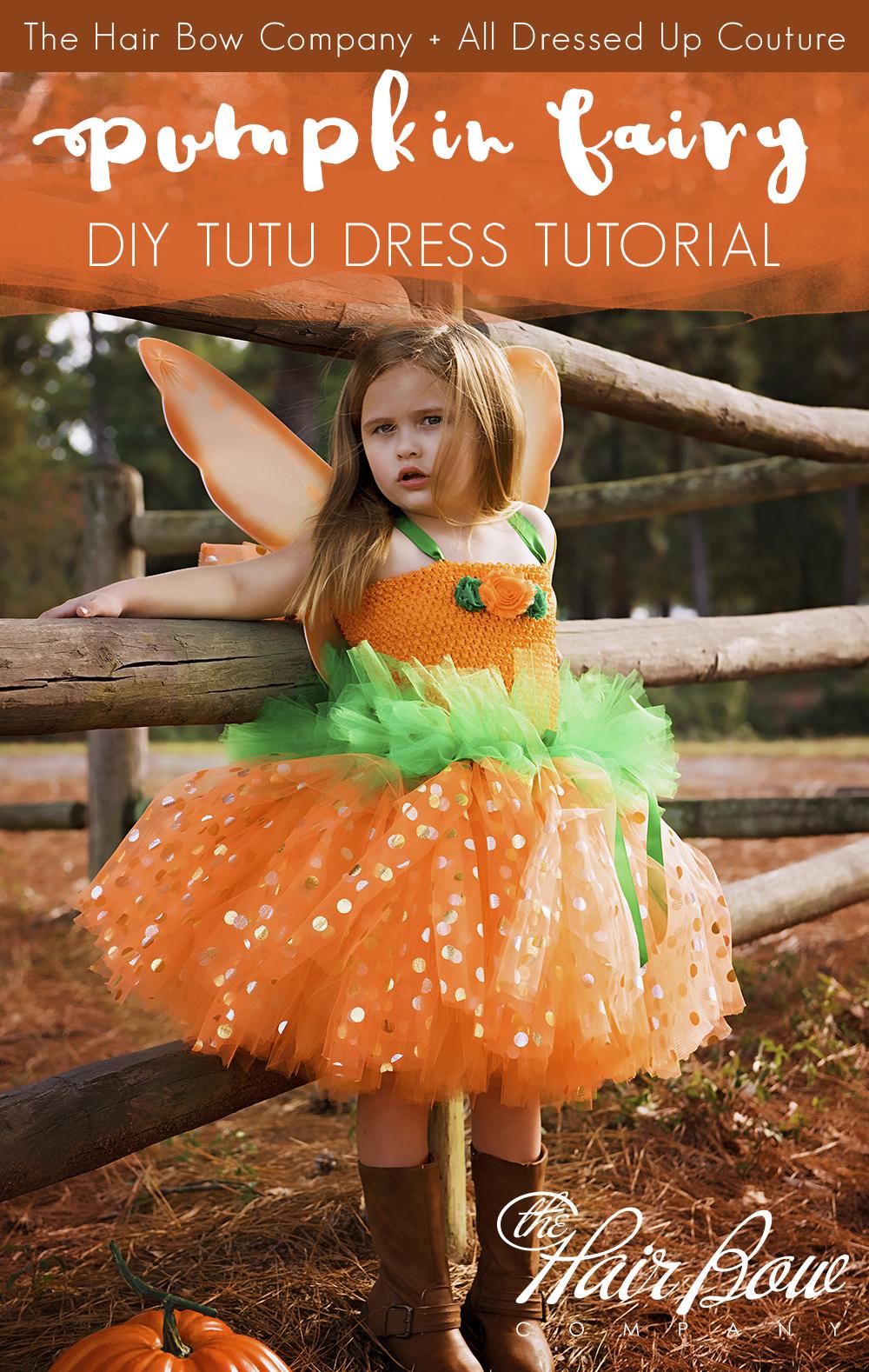c6be3884e Autumn Pumpkin Fairy Tutu Dress DIY Tutorial - The Hair Bow Company ...
