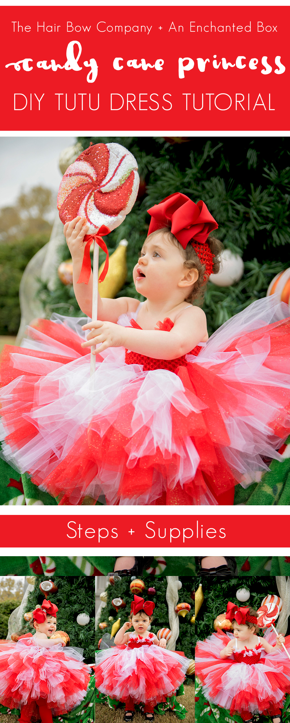 6c12602105b81 Candy Cane Princess Christmas Tutu Dress Tutorial - The Hair Bow ...