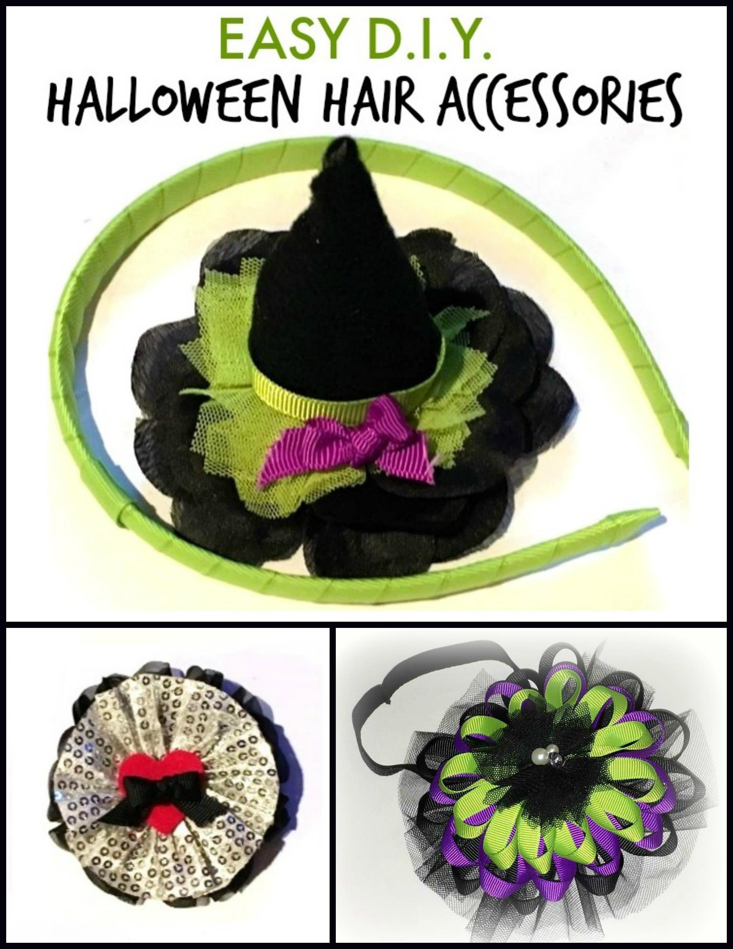 9269b0c9423a5e Halloween Hair Accessories   3 Easy Crafting Tutorials by The Hair Bow Co.