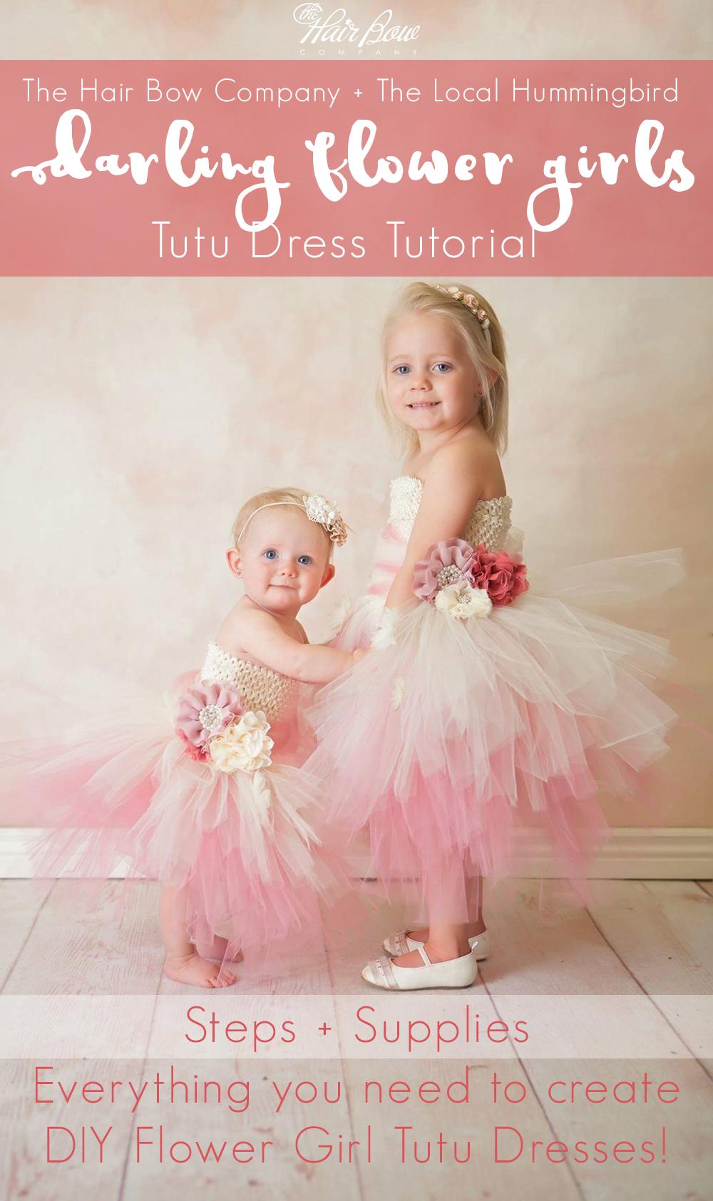 c9e48d744 Darling Flower Girl Tutu Dress DIY Tutorial - The Hair Bow Company ...