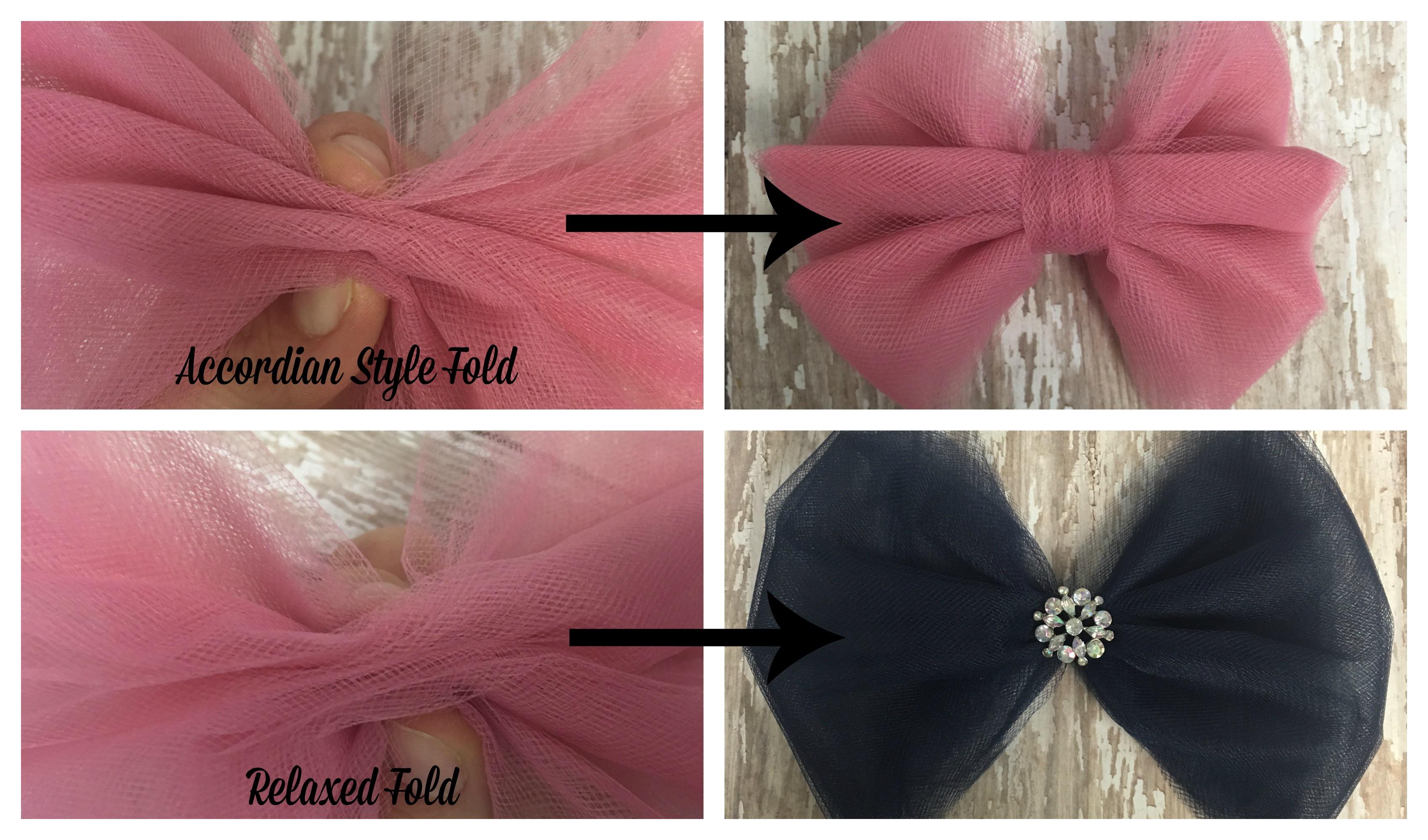 Tulle Hair Bow Fold Styles