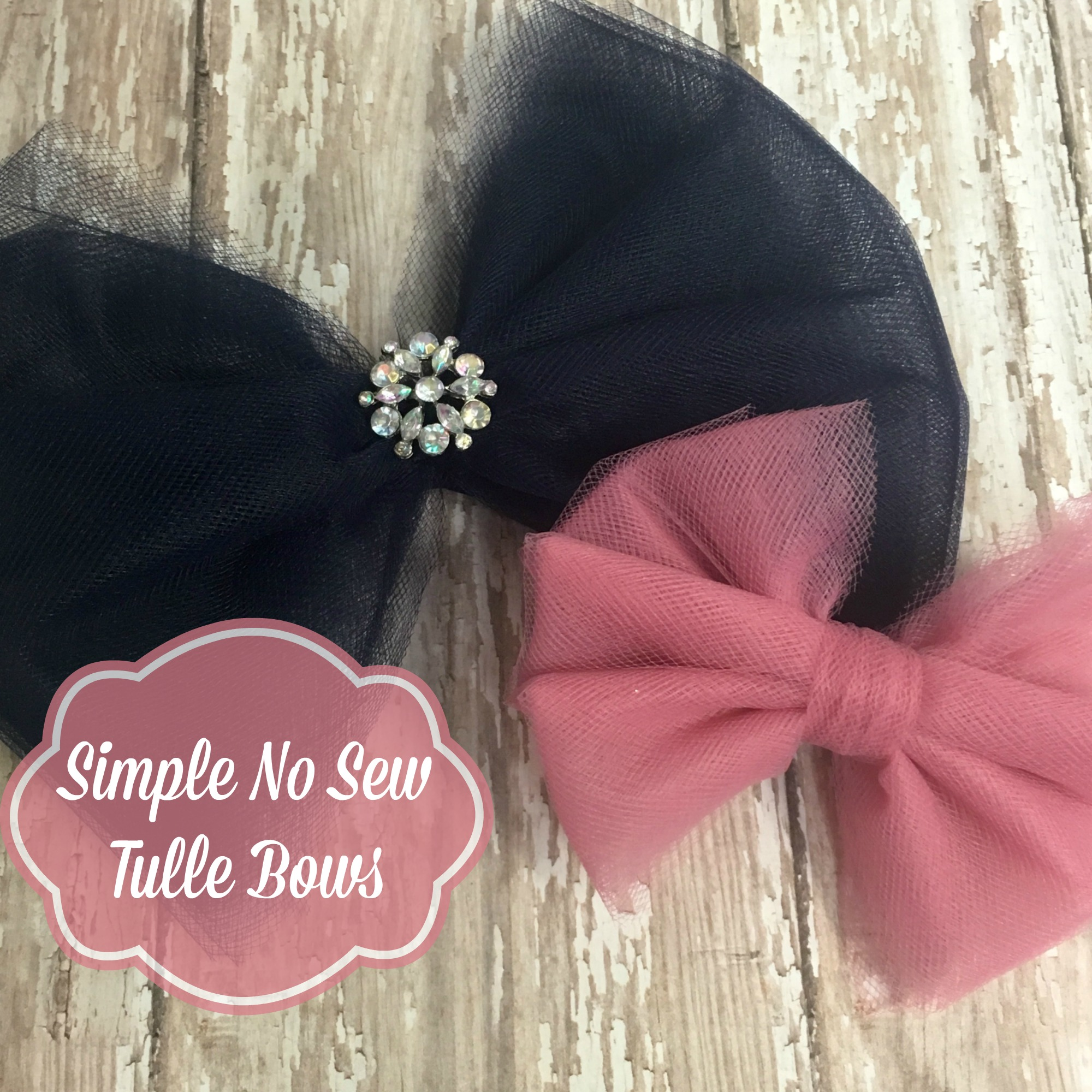 1d7f4327377a Tulle Hair Bow | How to make No Sew Tulle Bows in 7 Simple Steps ...